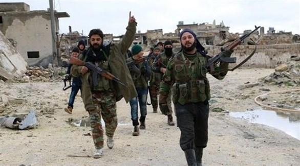 مقاتلون من المعارضة السورية المدعومة تركياً في منبج (أرشيف)