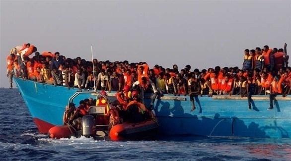 قارب مهاجرين في المتوسط (أرشيف)