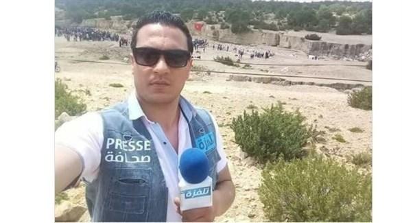 التونسي عبدالرزاق رزقي الذي أضرم النار بفنسه اليوم (تويتر)