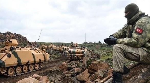تعزيزات تركية إضافية عند الحدود السورية (أ ف ب)