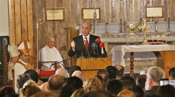 الرئيس العراقي برهم صالح من كنيسة مار يوسف في بغداد