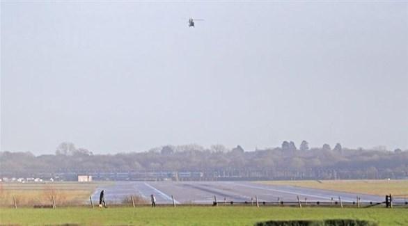 طائرات مسيرة فوق مطار غاتويك البريطاني (أرشيف)