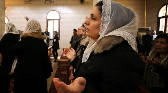 احتفالات أعياد الميلاد على أطلال كنيسة دمرها تنظيم داعش (تويتر)