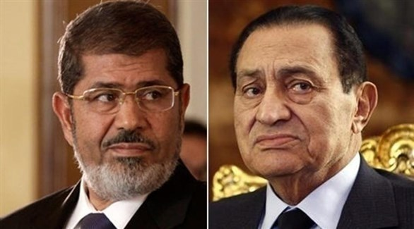 حسني مبارك ومحمد مرسي (أرشيف)