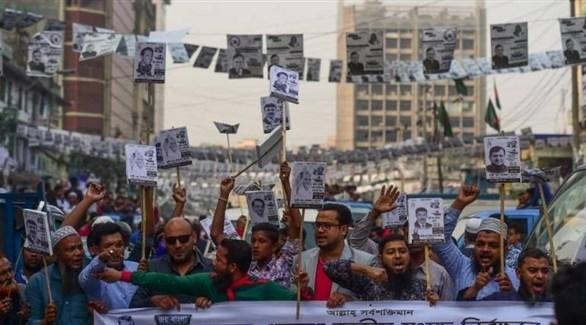 اشتباكات في بنغلاديش مع قرب الانتخابات (تويتر)