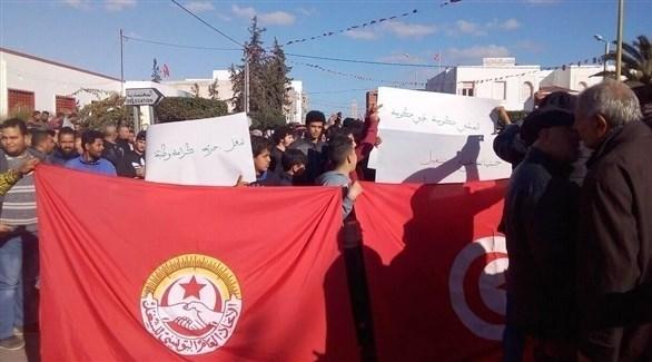 احتجاجات في مدينة جبناية التونسية (قرطاج بلس)