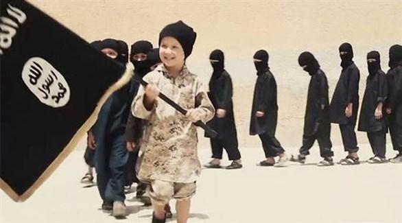 أطفال في أحد مسيرات داعش (أرشيف)
