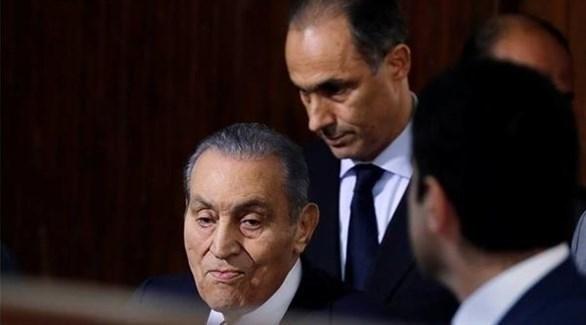 الرئيس المصري الأسبق محمد حسنى مبارك اثناء شهادته في المحكمة