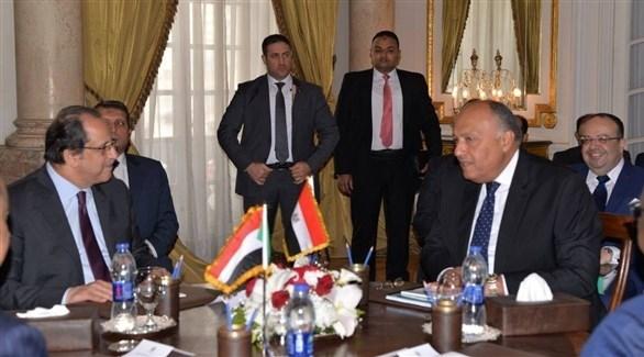 وزير خارجية مصر سامح شكري ومدير المخابرات عباس مصطفى كامل (أرشيف)