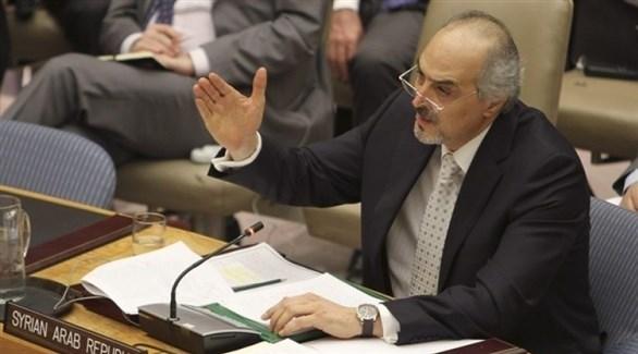 مندوب النظام السوري في الأمم المتحدة، بشار الجعفري (أرشيف)