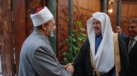 الدكتور أحمد الطيب، في استقبال رئيس مجلس الشورى السعودي، الدكتور عبدالله آل الشيخ