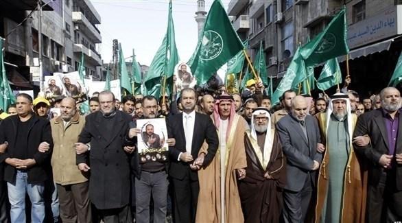 قيادات إخوانية أردنية خلال تنظيمها مسيرات في العاصمة عمان (أرشيف)