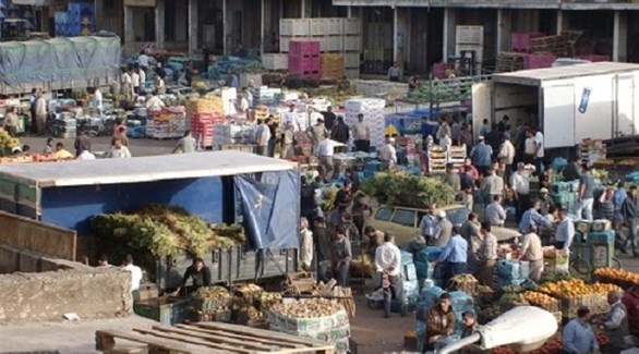 سوق خضار وفواكه في فلسطين (وفا)