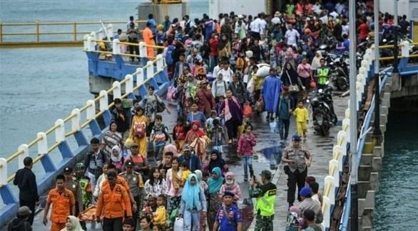 عدد النازحين بسبب تسونامي أندونيسيا ارتفع لـ 40.386 (أرشيف)