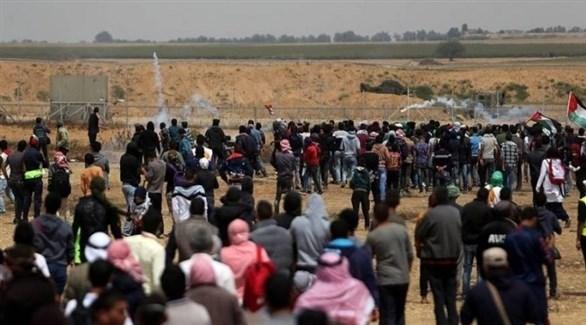 مواجهات بين الفلسطينيين وجنود الاحتلال في