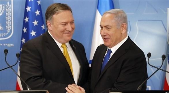 وزير الخارجية الأمريكي مايك بومبيو ورئيس الوزراء الإسرائيلي بنيامين نتانياهو (أرشيف)