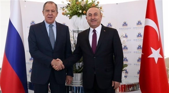وزير الخارجية التركي مولود تشاوش أوغلو ونظيره الروسي سيرغي لافروف (أرشيف)