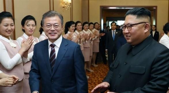 رئيس كوريا الشمالية ونظيرة في كورا الجنوبية (أرشيف)