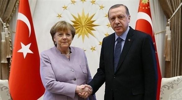الرئيس التركي رجب طيب أردوغان والمستشارة الألمانية أنجيلا ميركل (أرشيف)