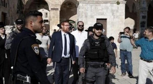 عضو الكنيست المتطرف ايهودا غليك يقتحم باحات المسجد الأقصى (أرشيف)