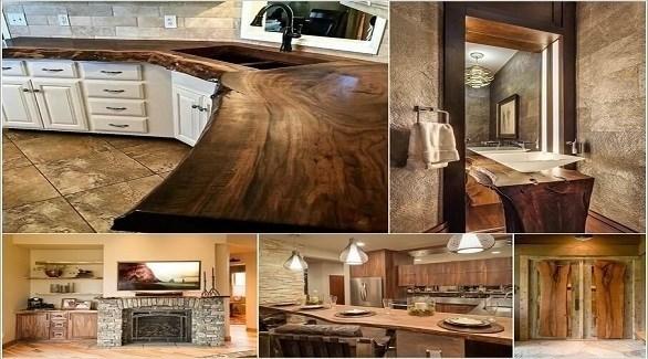استخدام الخشب الخام في ديكور المنزل (أميزنغ إنتيرير ديزاين)