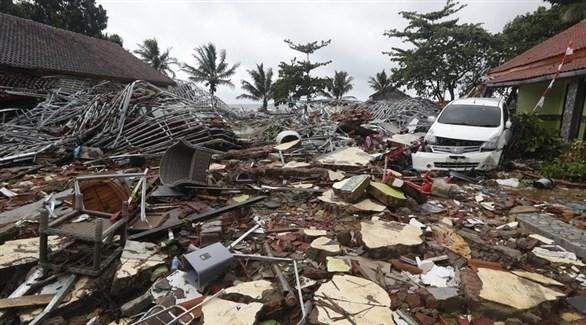 دمار كبير جراء التسونامي الذي ضرب مضيق سوندا الإندونيسي (إ ب أ)