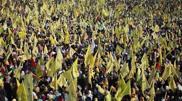 مؤيديون لحركة فتح الفلسطينية في تجمع بغزة (أرشيف)