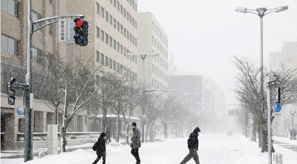 عاصفة ثلجية تضرب اليابان والصين (أرشيف)