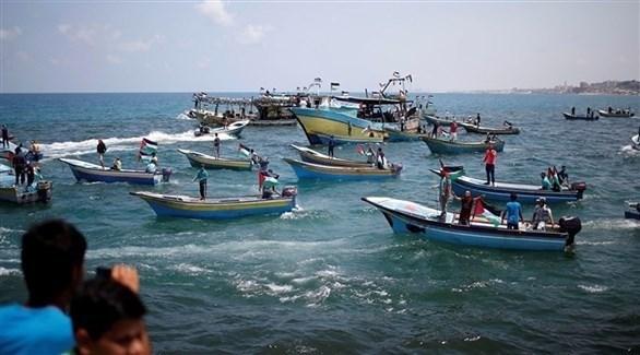مسيرة في بحر غزة (تويتر)