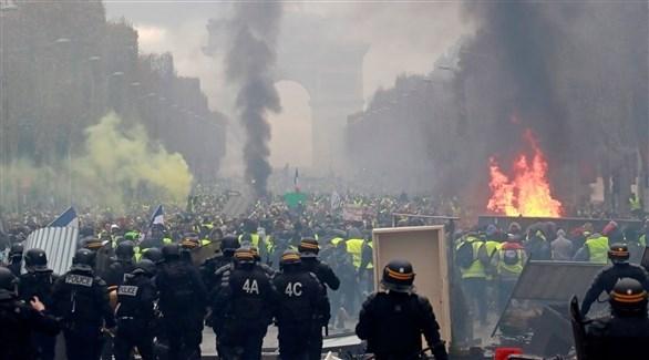 أعمال شغب رافقت احتجاجات السترات الصفراء في فرنسا (وكالات)