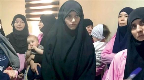 داعشيات روسيات وقوقازيات مع أطفالهن في المحكمة (أرشيف)