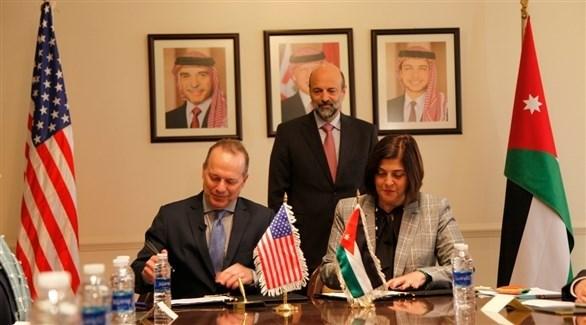 مراسم توقيع الاتفاقية بين الأردن والولايات المتحدة (بترا)