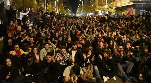 تجمع مناهض لليمين المتطرف في الأندلس في مدينة غرناطة (تويتر)