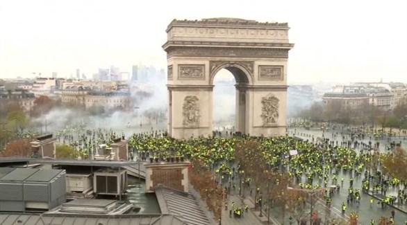 احتجاجات السترات الصفراء في باريس (أرشيف)