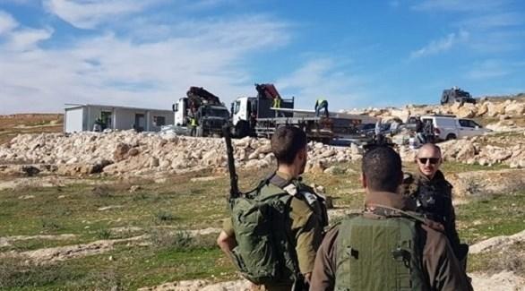 هدم الاحتلال الإسرائيلي لمدرسة التحدي 13 (أرشيف)