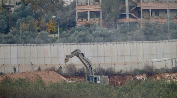عمليات حفر إسرائيلية على الحدود اللبنانية (أرشيف)