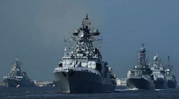 قطع حربية من الأسطول البحري الروسي (أرشيف)