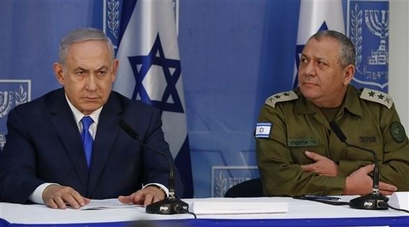 نتانياهو أثناء الكشف عن درع الشمال (أ ف ب)
