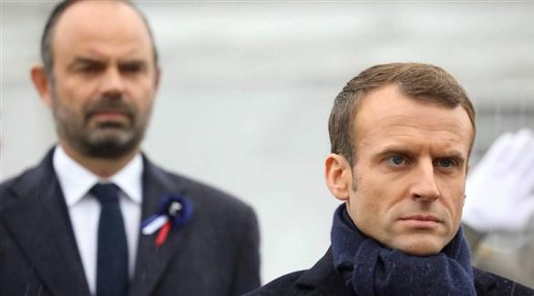 الرئيس الفرنسي إيمانويل ماكرون ورئيس حكومته إدوار فيليب (أرشيف)