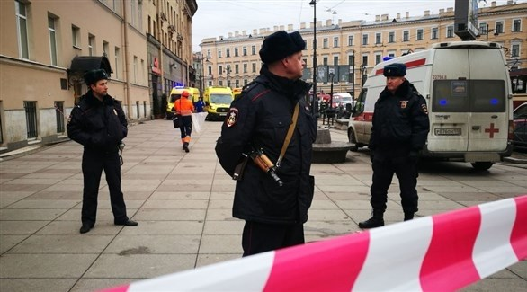 الشرطة الروسية في سان بطرسبرغ (أرشيف)