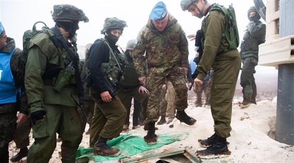 قائد قوات اليونيفيل يزور منطقة الأنفاق التي عثر عليها الجيش الإسرائيلي (تويتر)