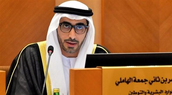 وزير الموارد البشرية والتوطين ناصر بن ثاني الهاملي (أرشيف)