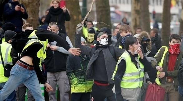 تظاهرات للسترات الصفراء في شوارع بلجيكا (أرشيف)