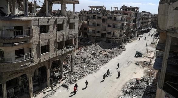مبان مدمرة في الغوطة الشرقية لدمشق (EPA)