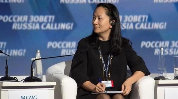 المديرة المالية لشركة هواوي مينغ وانتشو (أرشيف)