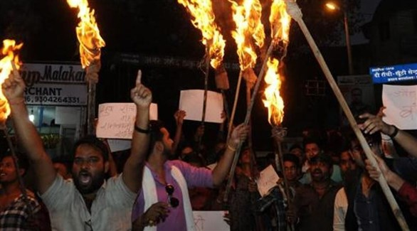 محتجون هندوس ضد ذبح الأبقار (أرشيف)