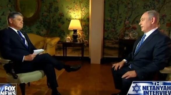 رئيس الوزراء الإسرائيلي بنيامين نتانياهو في حديثه مع قناة فوكس نيوز (أرشيف)