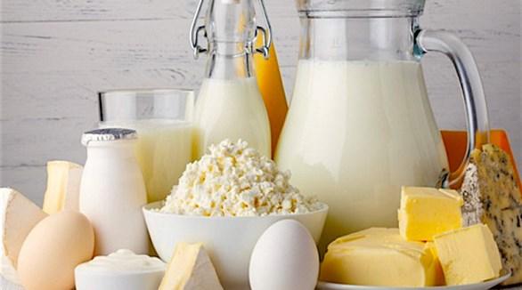 الحليب والبيض