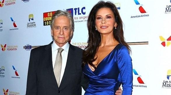 كاثرين زيتا جونز وزوجها الممثل مايكل دوغلاس