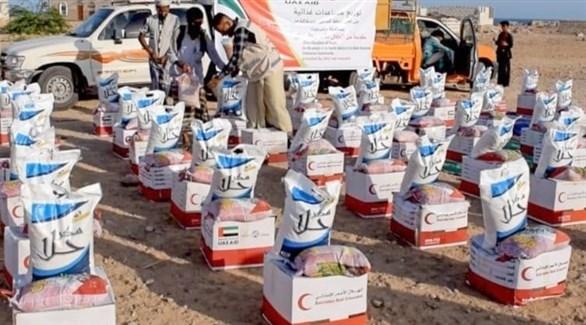 مساعدات الهلال الأحمر الإماراتي لأهالي اليمن (أرشيف)